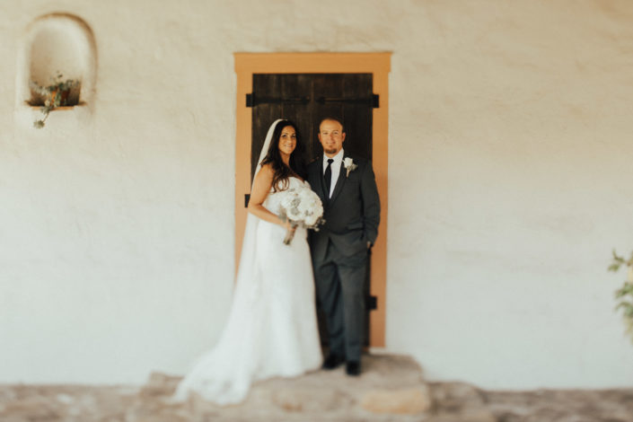 couple at rancho buena vista adobe