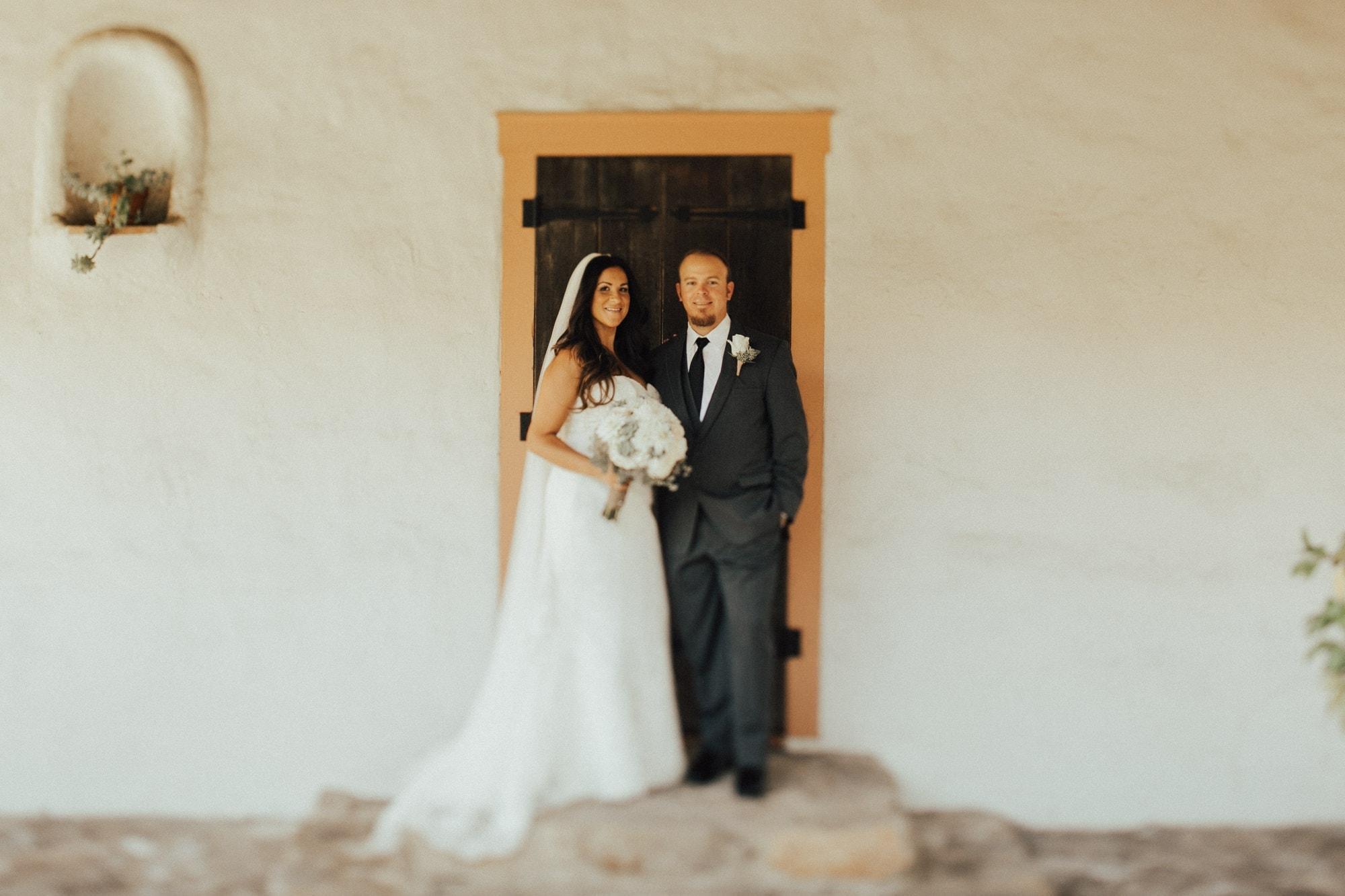 couple at rancho buena vista adobe