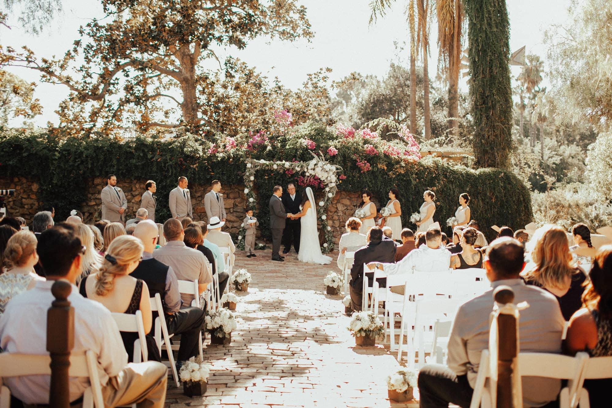 wedding at rancho buena vista adobe