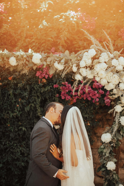 couple married at rancho buena vista adobe