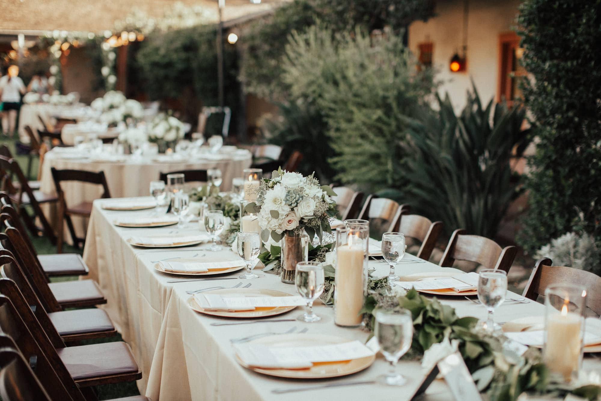 wedding reception at rancho buena vista adobe