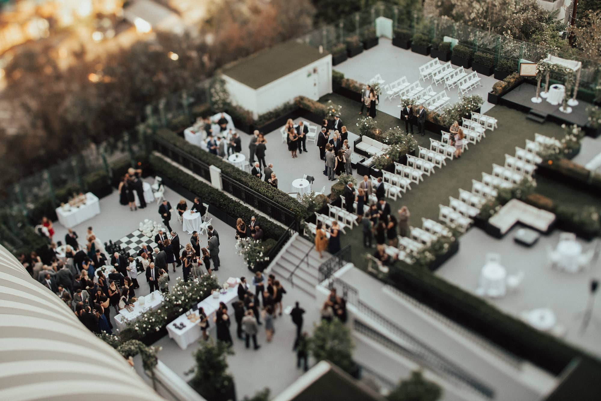 overview of wedding space at the london west hollywood