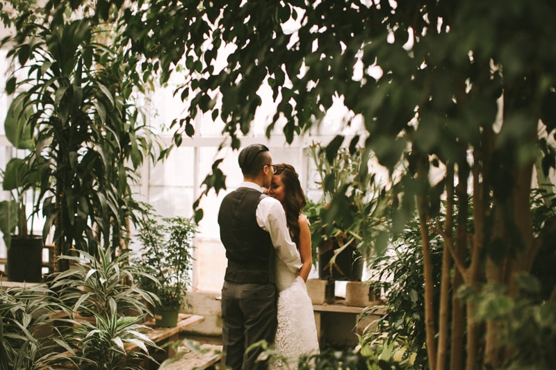 couple in greenhouse