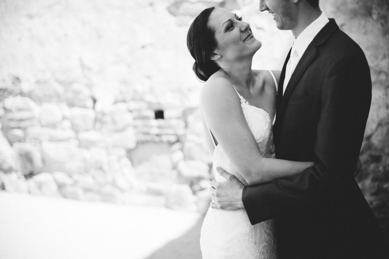 black and white of couple portrait