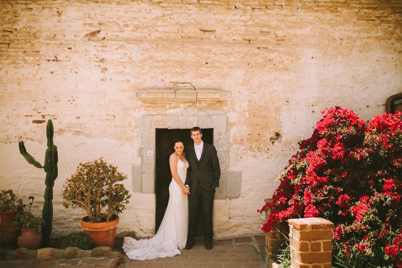 wedding portrait at a california mission