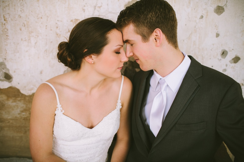 close up of couple