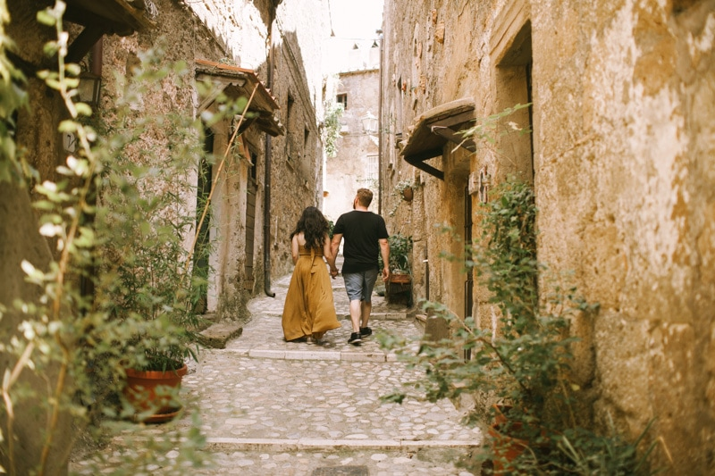 Calcata Italy Engagement