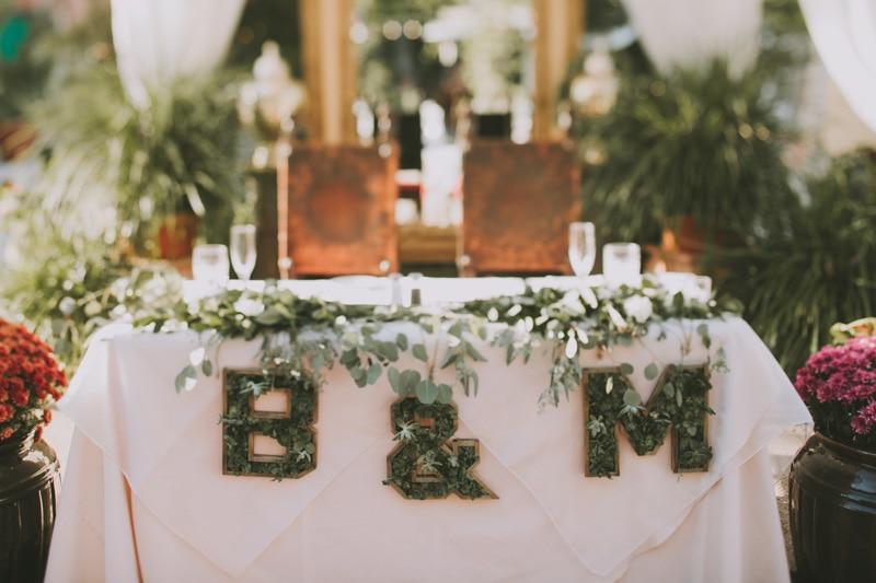 head table wedding details
