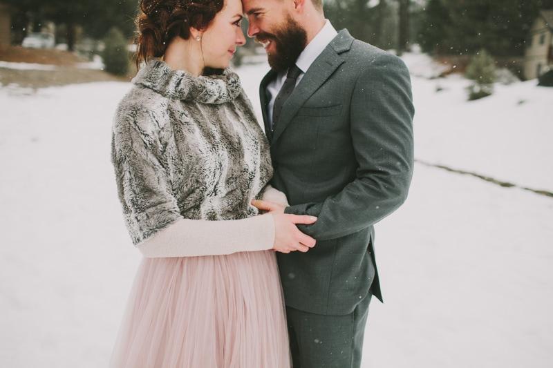 winter elopement