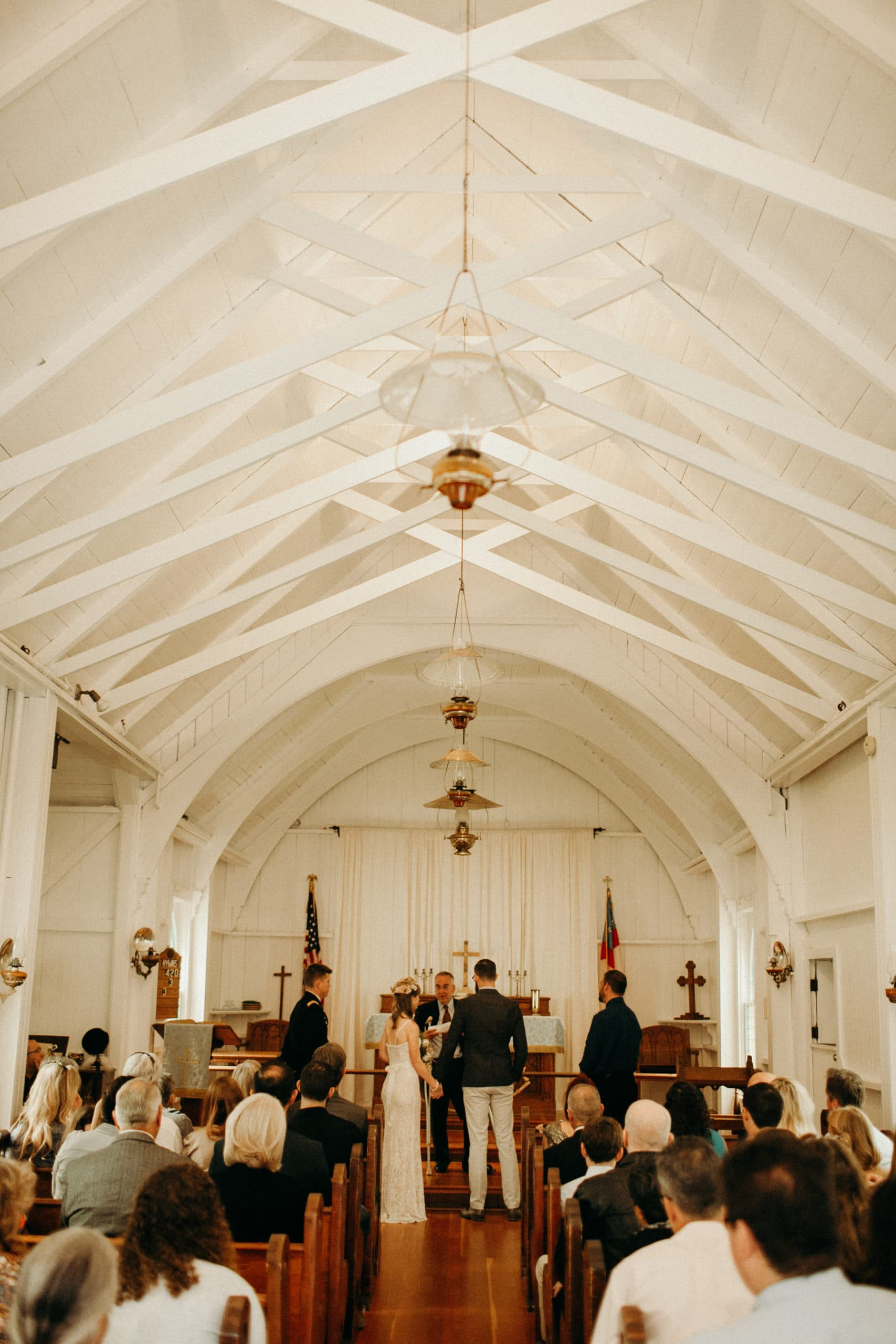 wedding ceremony at St. George's Episcopal Mission