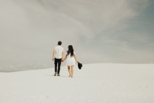 couple at white sands national monument
