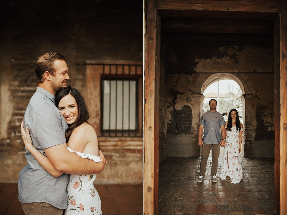 engagement at san juan capistrano mission