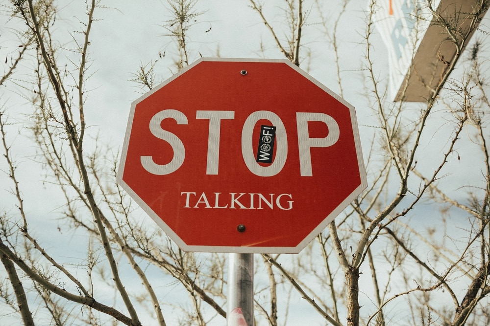 stop talking sign