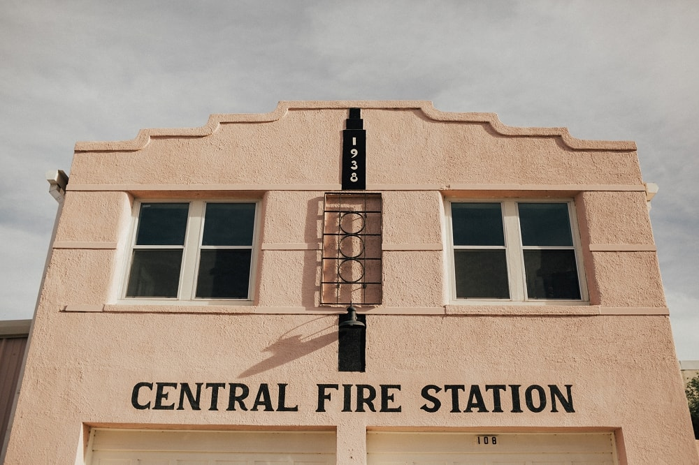 marfa pink fire station