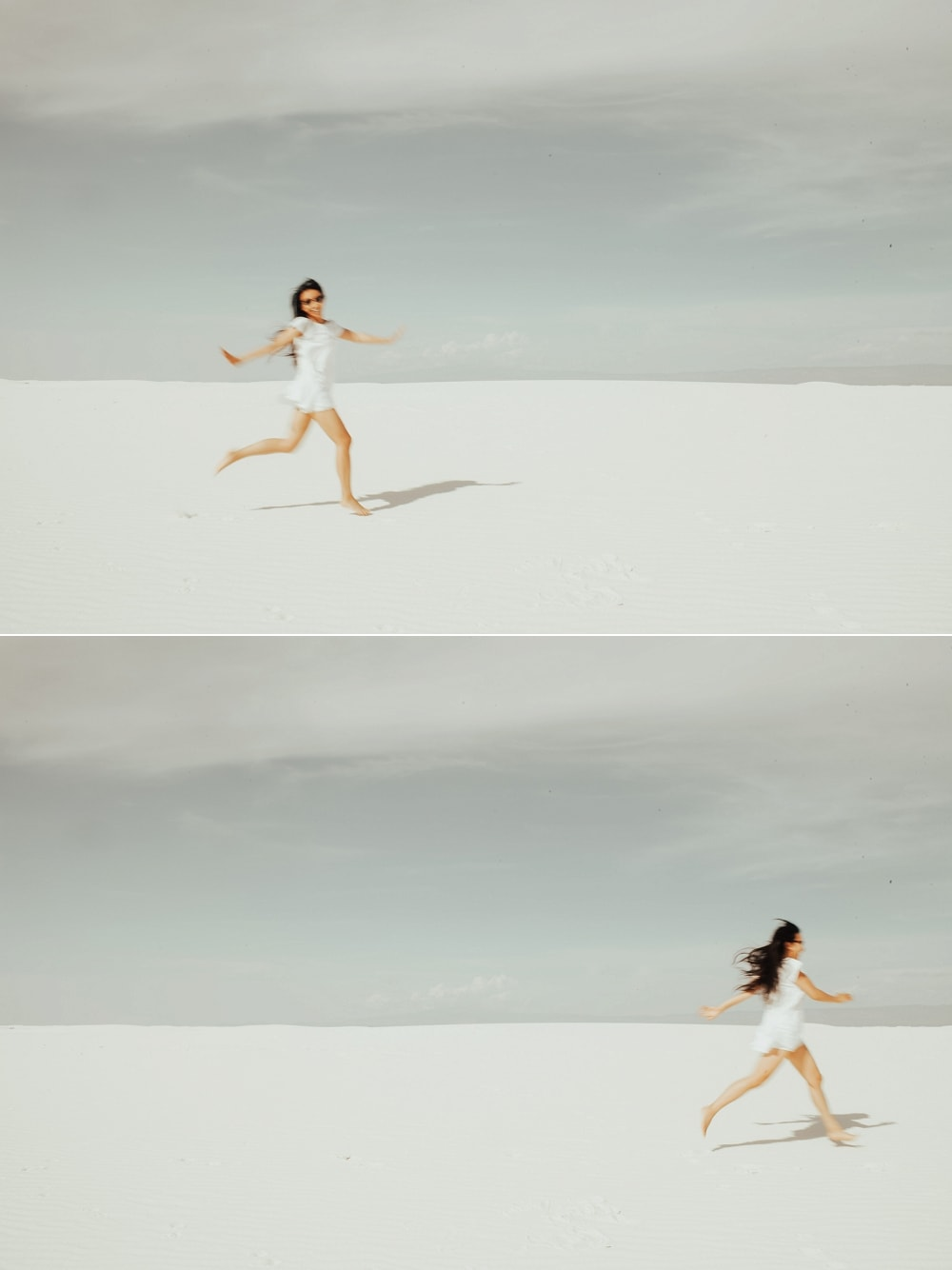 running around at the white sands national park