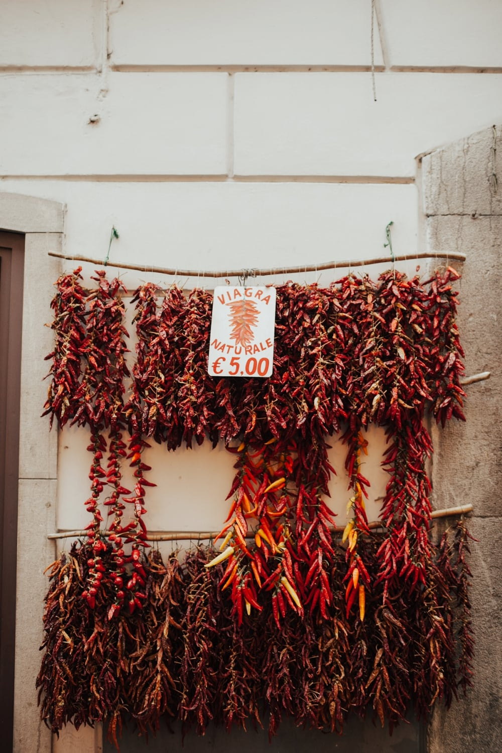 red chilis in amalfi