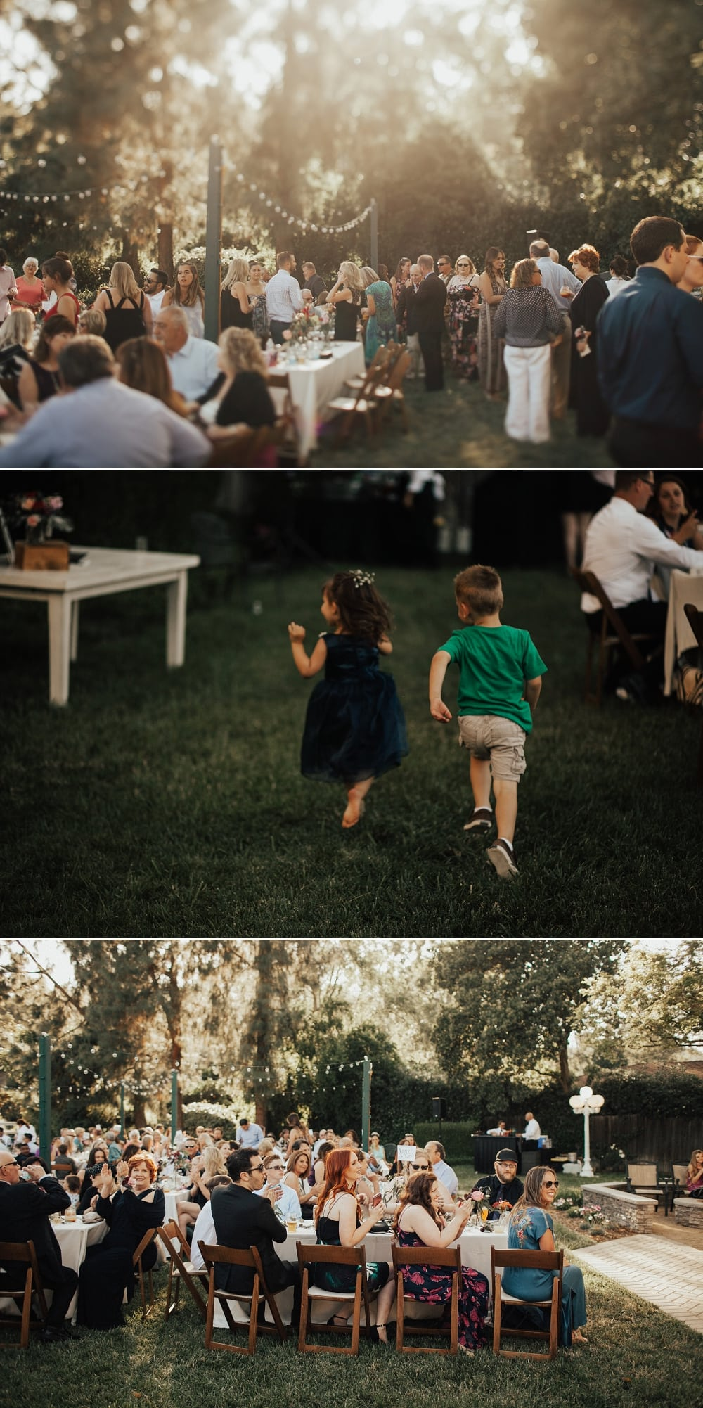orange county backyard summer wedding