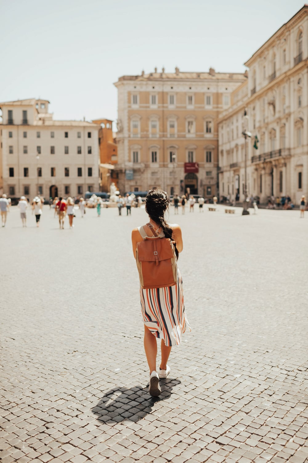 being a tourist in rome