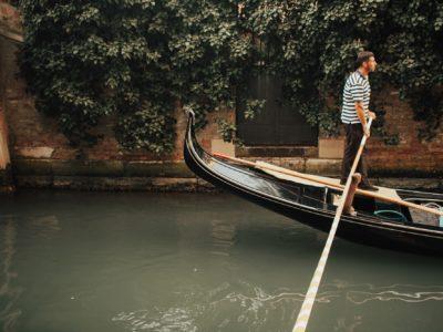 gondolier in venezia, italy