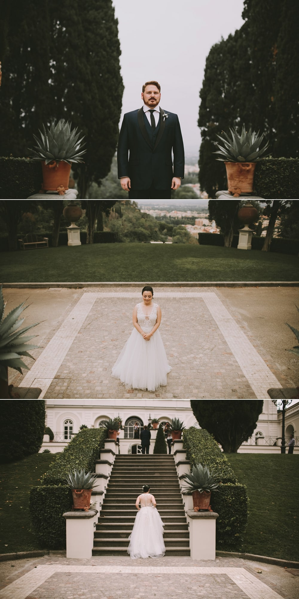 first look rome italy wedding