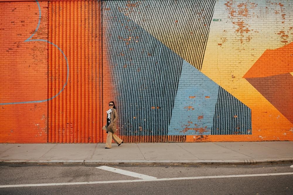 cool bright brooklyn wall