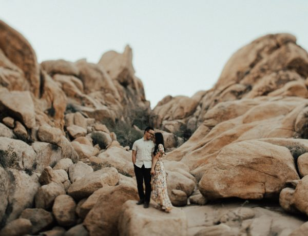 Joshua Tree Winter Couples Session