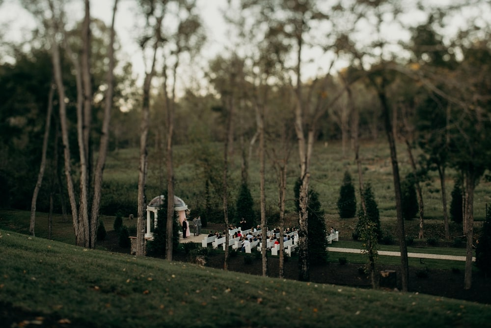 ceremony site at bella rose plantation