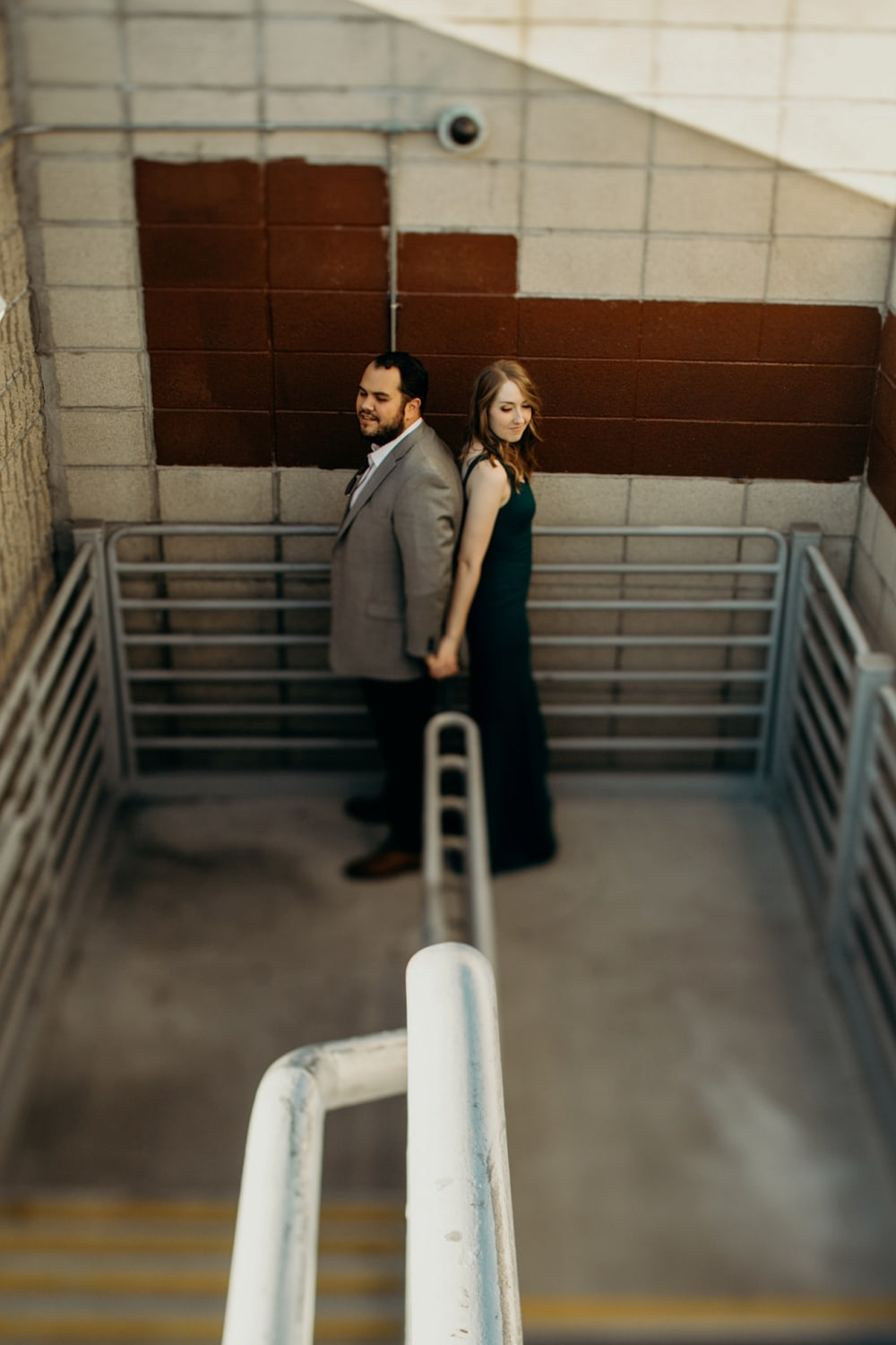 parking garage engagement session