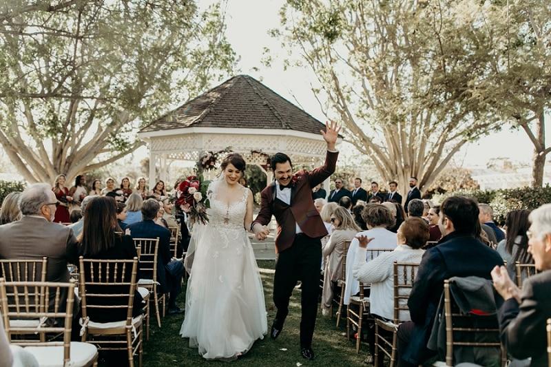 Heritage Museum of Orange County wedding ceremony