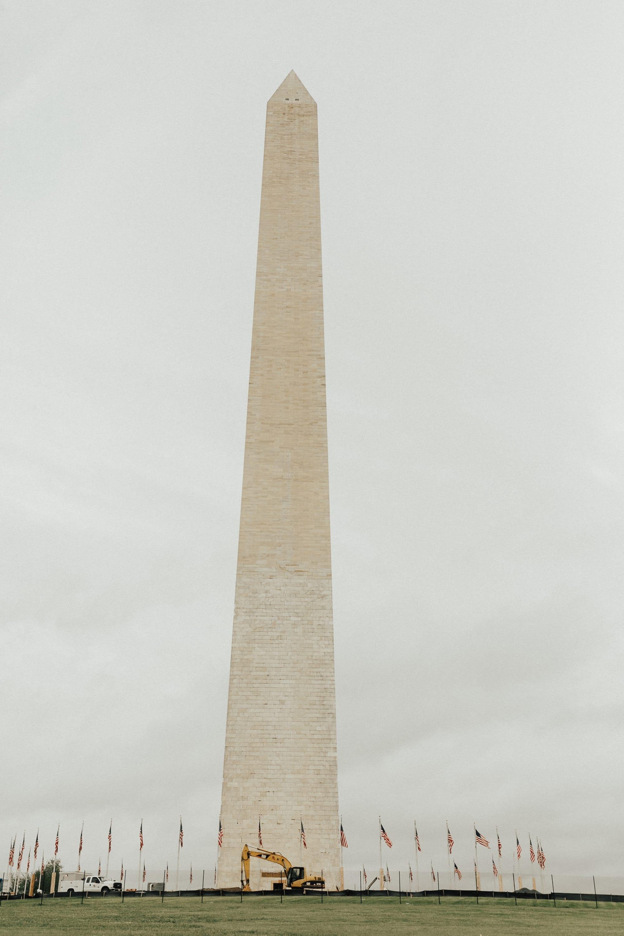 Washington Monument under construction