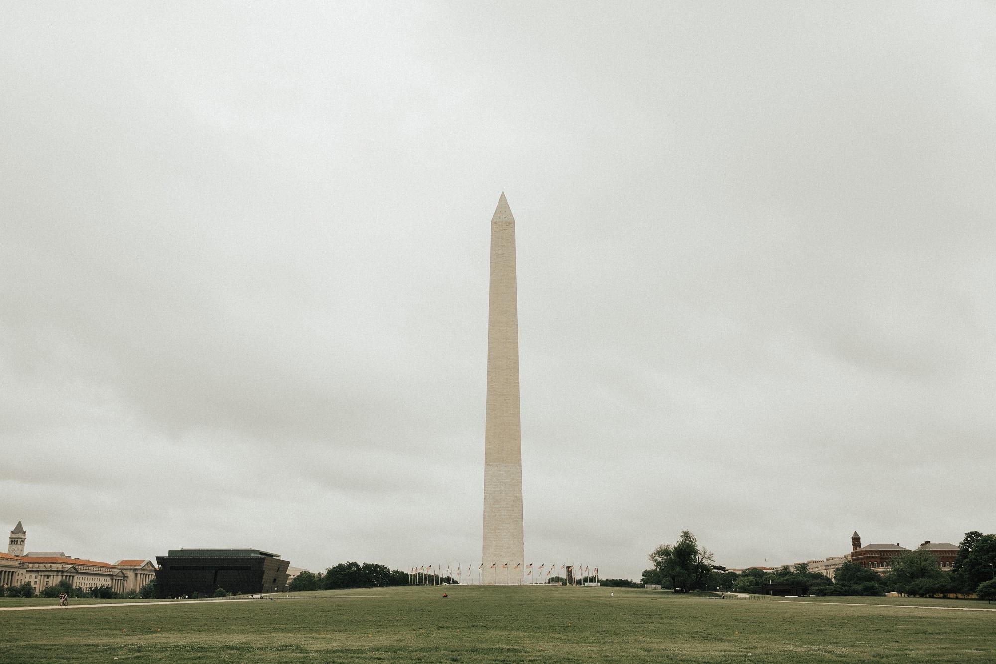 Washington Monument on a gloomy day