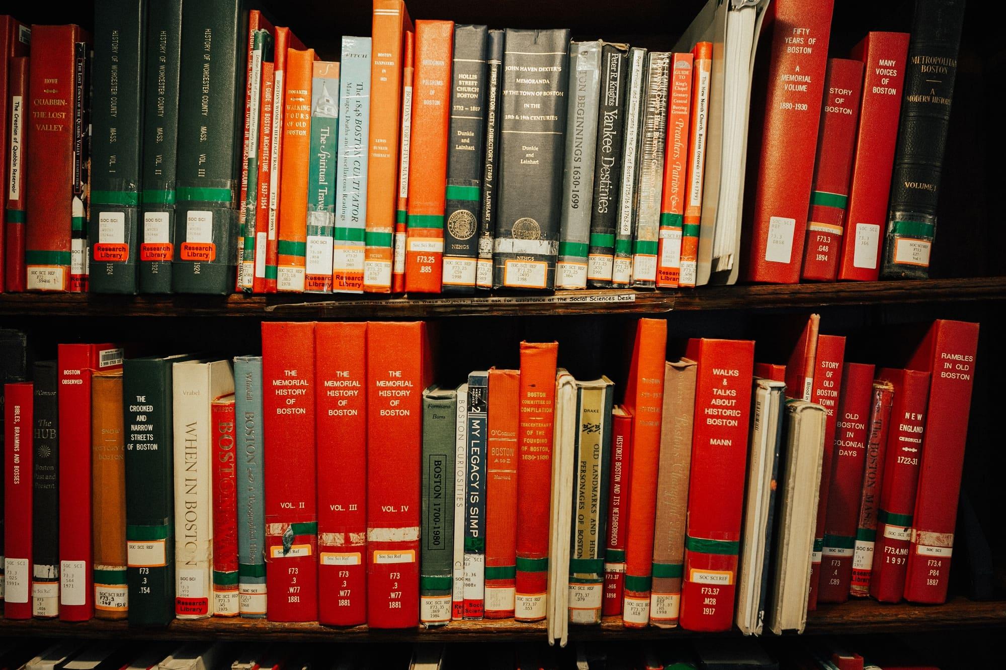 books at bates hall boston library