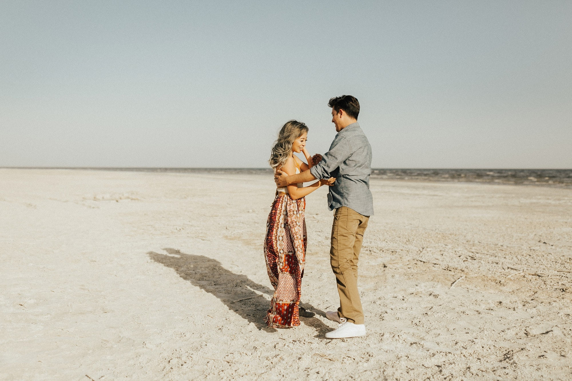 salton sea engagement couple session