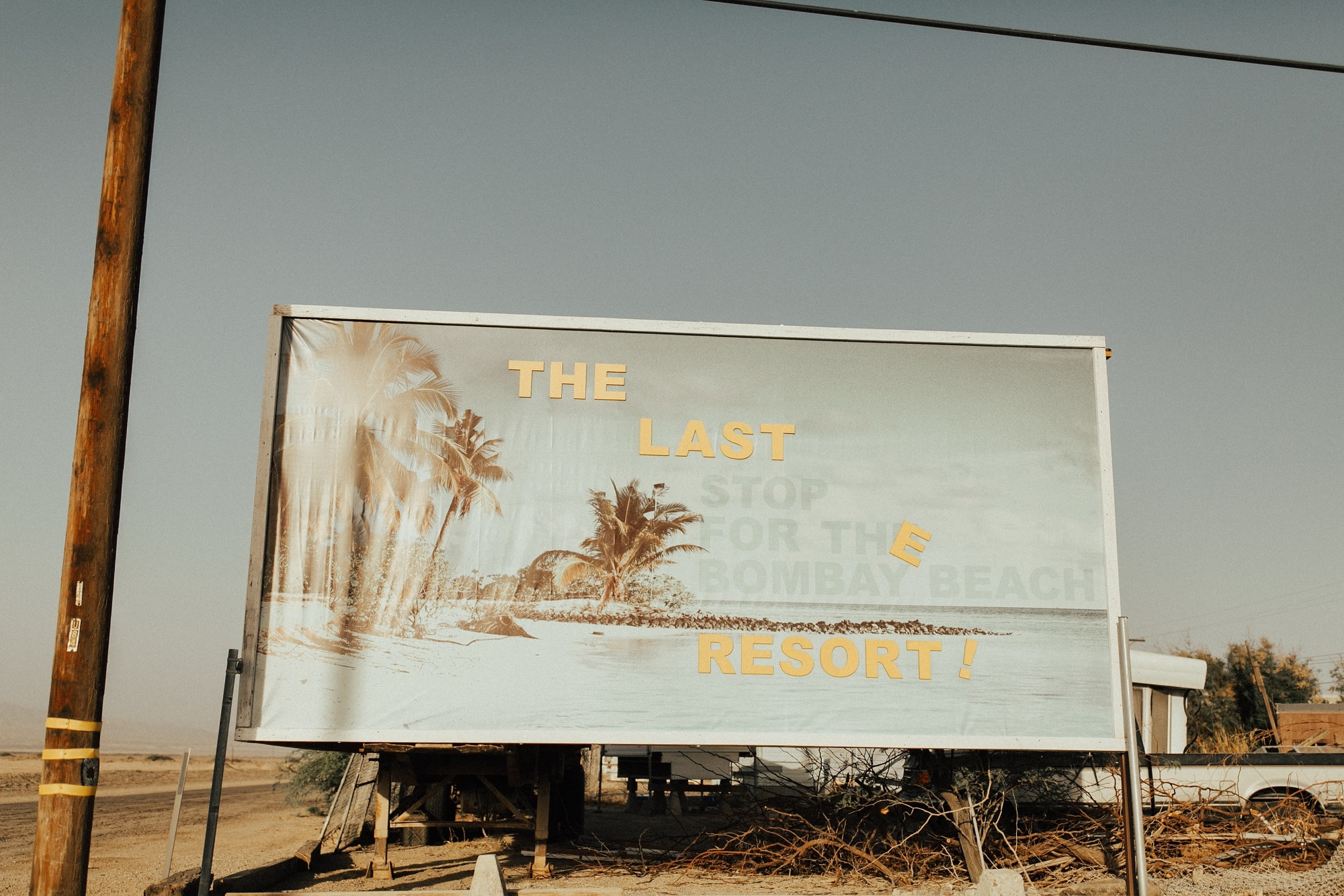 sign at bombay beach