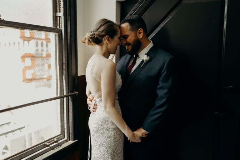 wedding portraits at the ace hotel los angeles