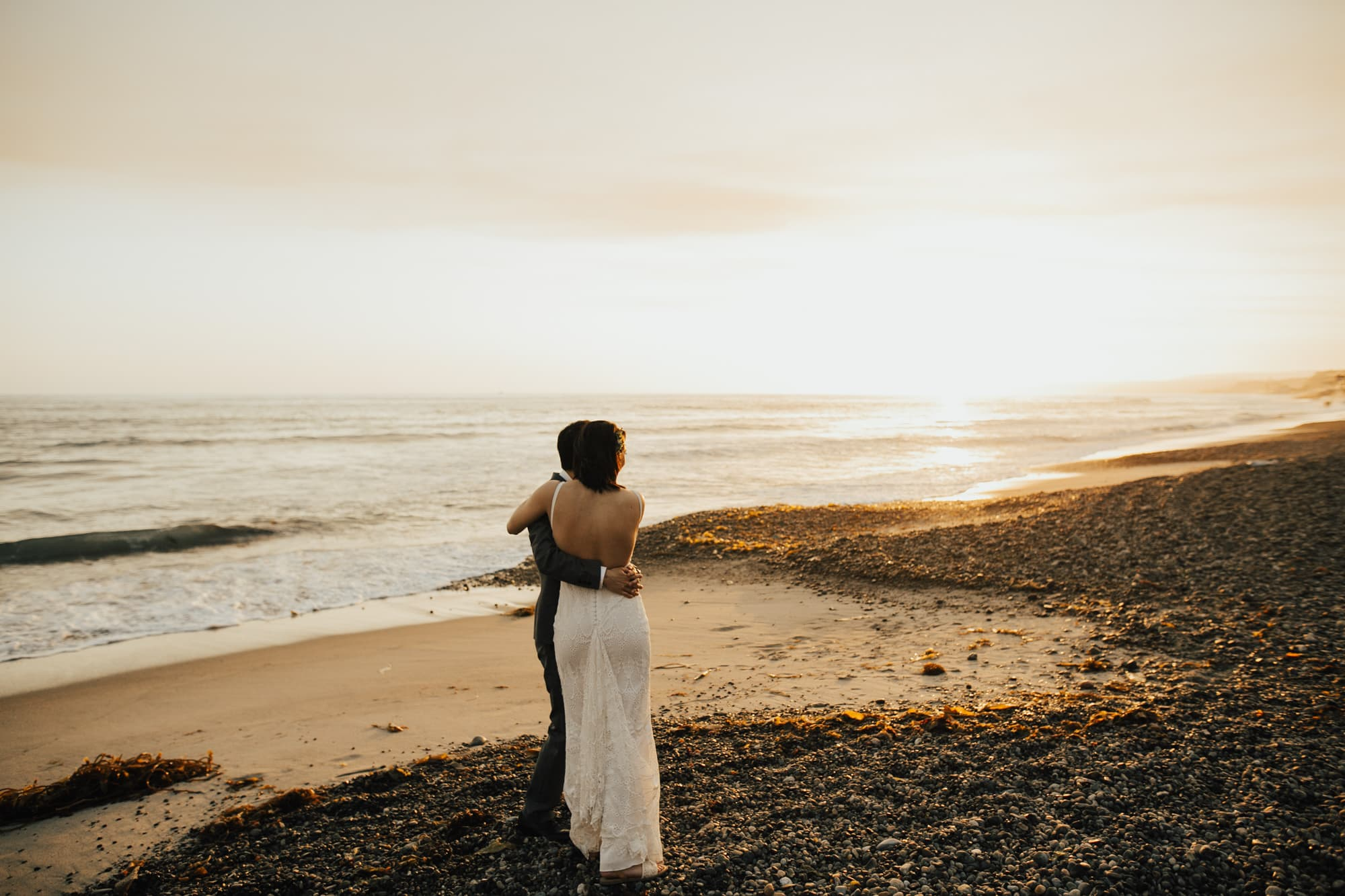 wedding photos at sunset