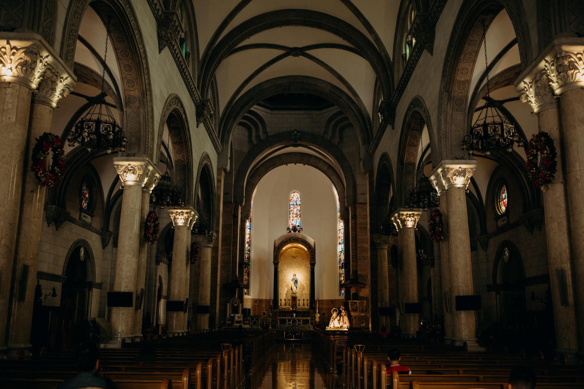 inside quiapo church