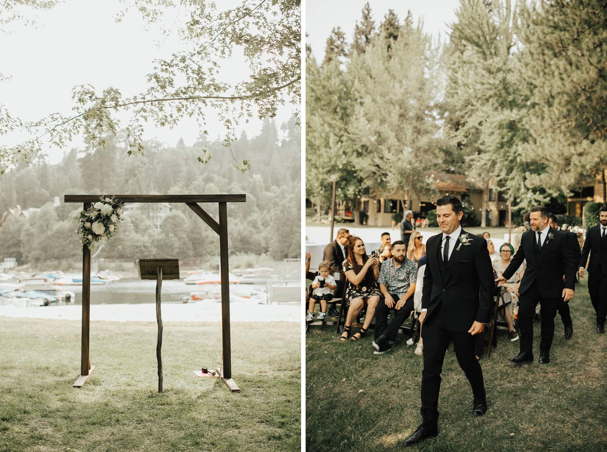 diy wedding altar