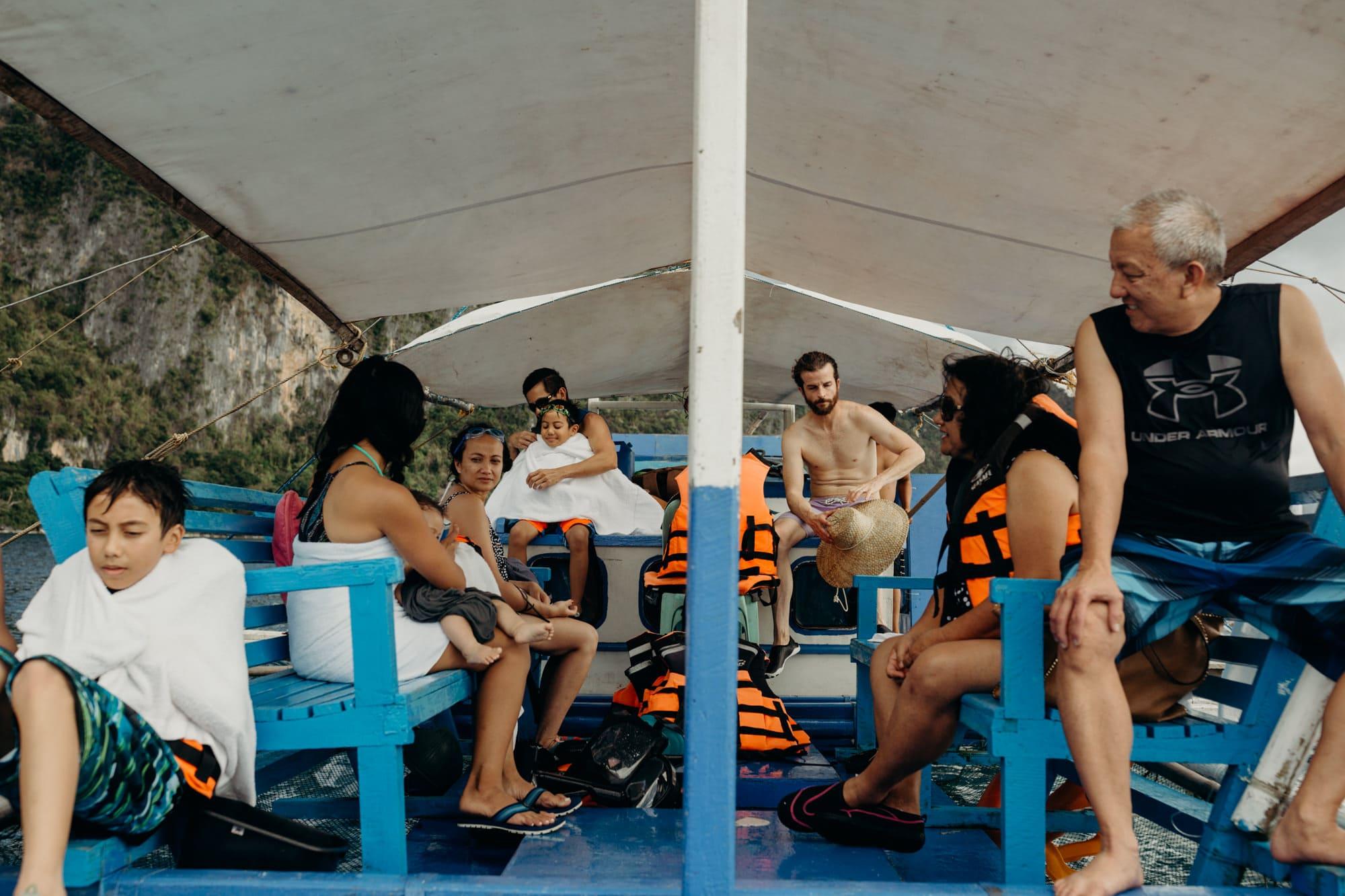 boat tour at coron palawan