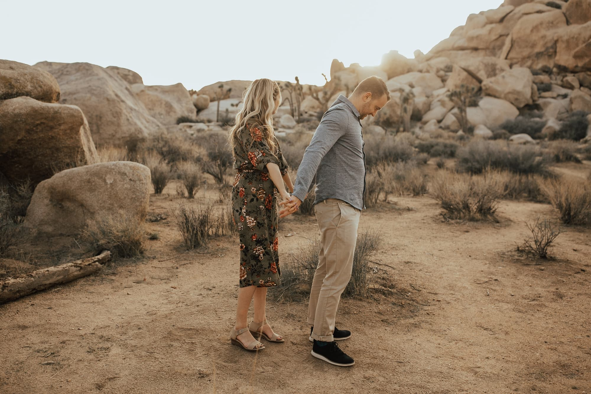 engagement session at joshua tree