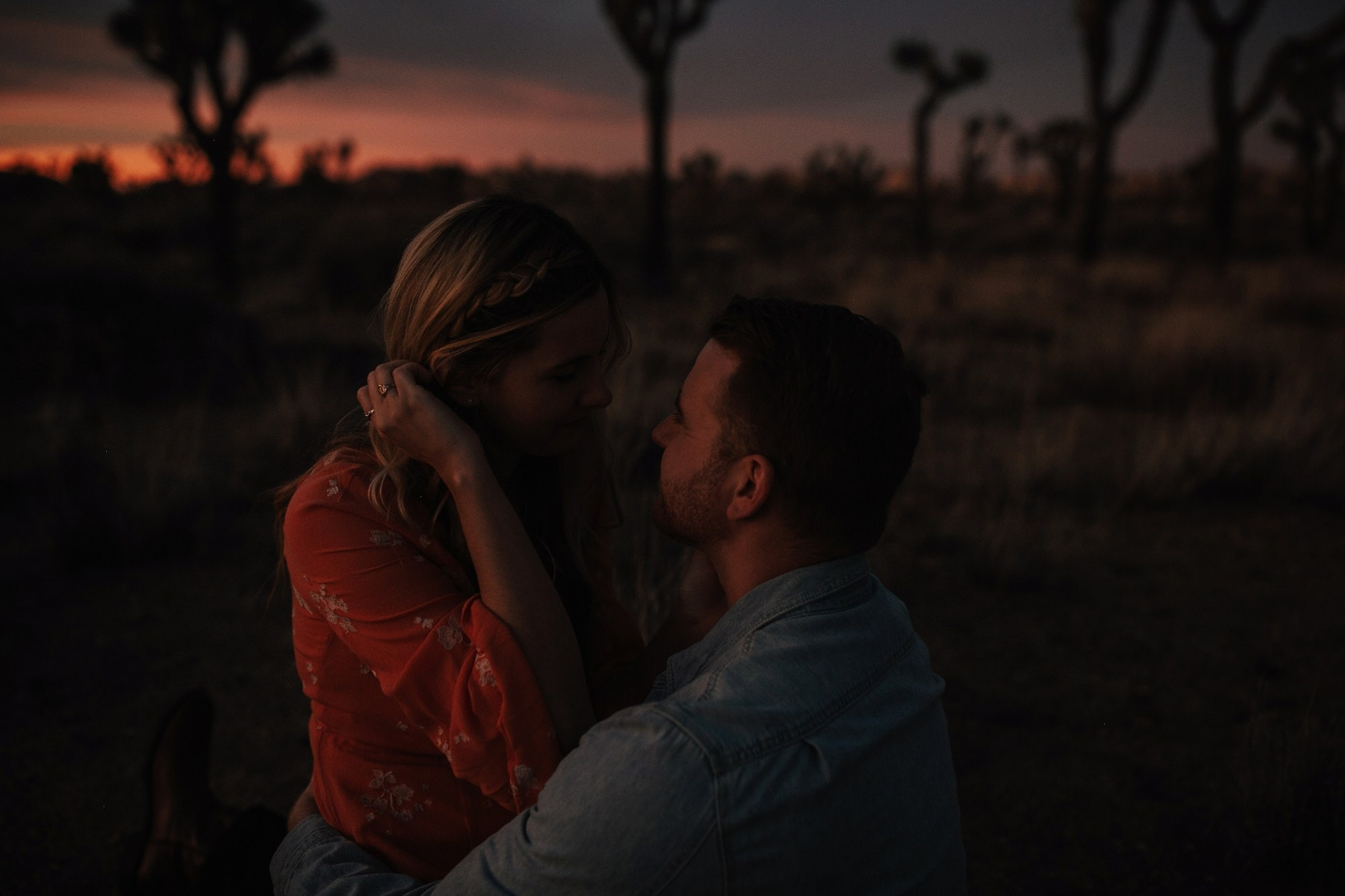 dusk engagement session