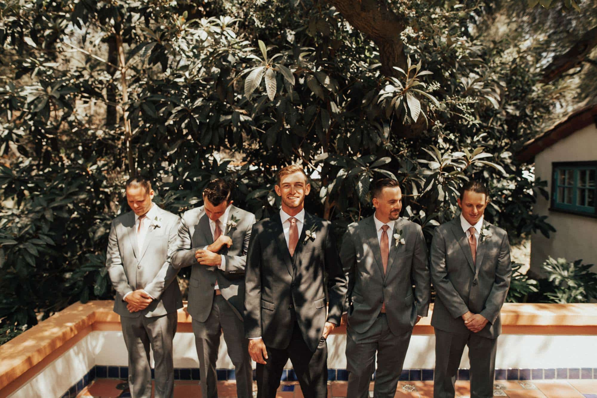 groomsmen portrait at rancho las lomas