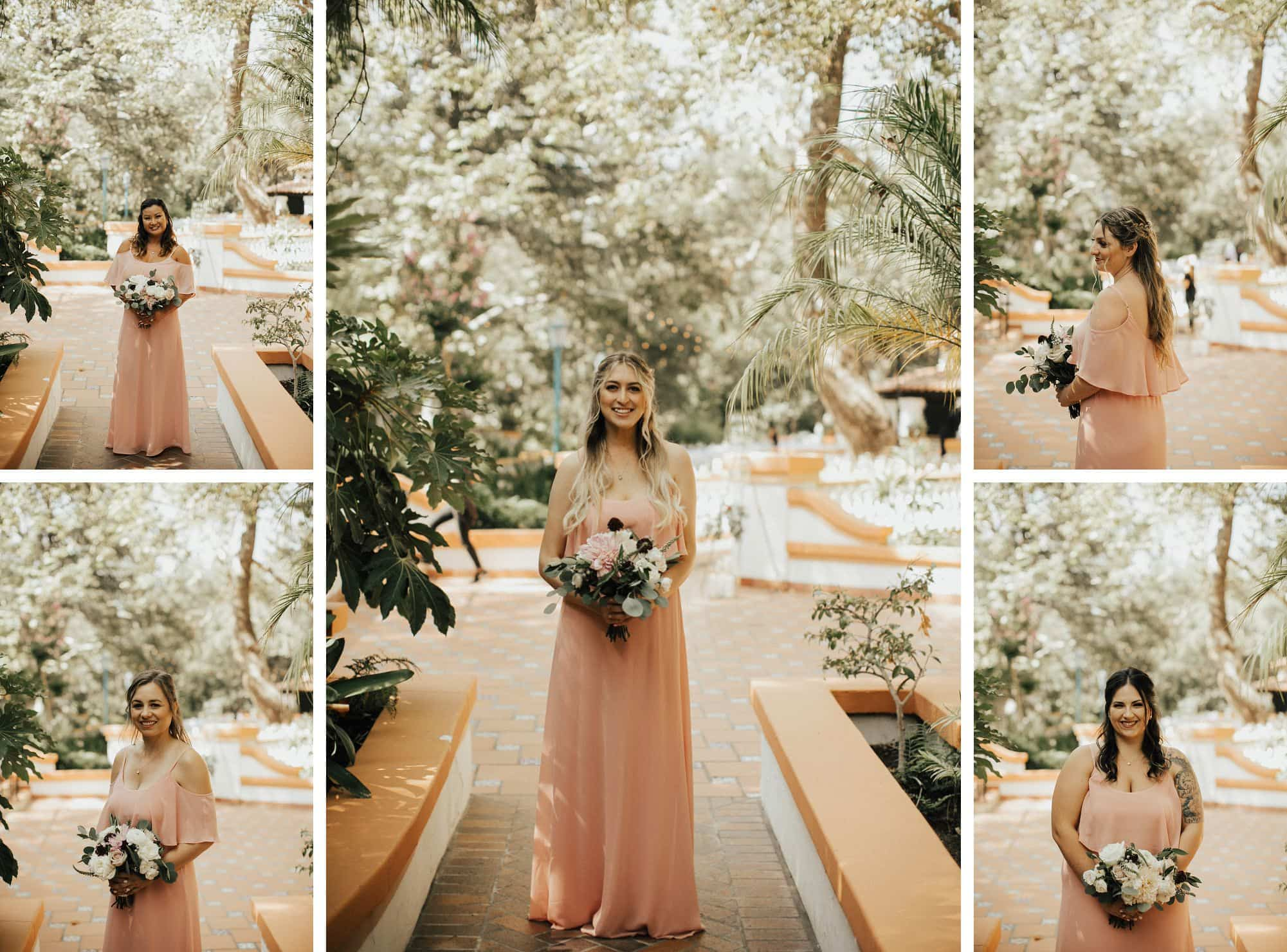 pink show me your mumu bridesmaids dresses