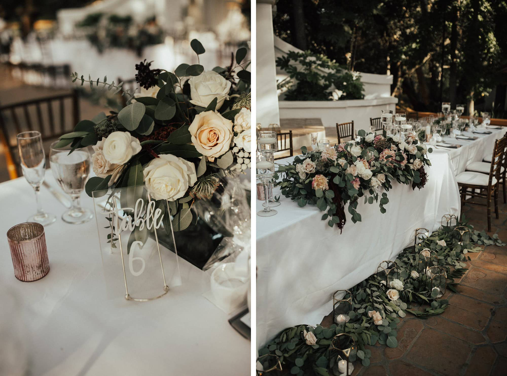 bohemian greenery wedding details