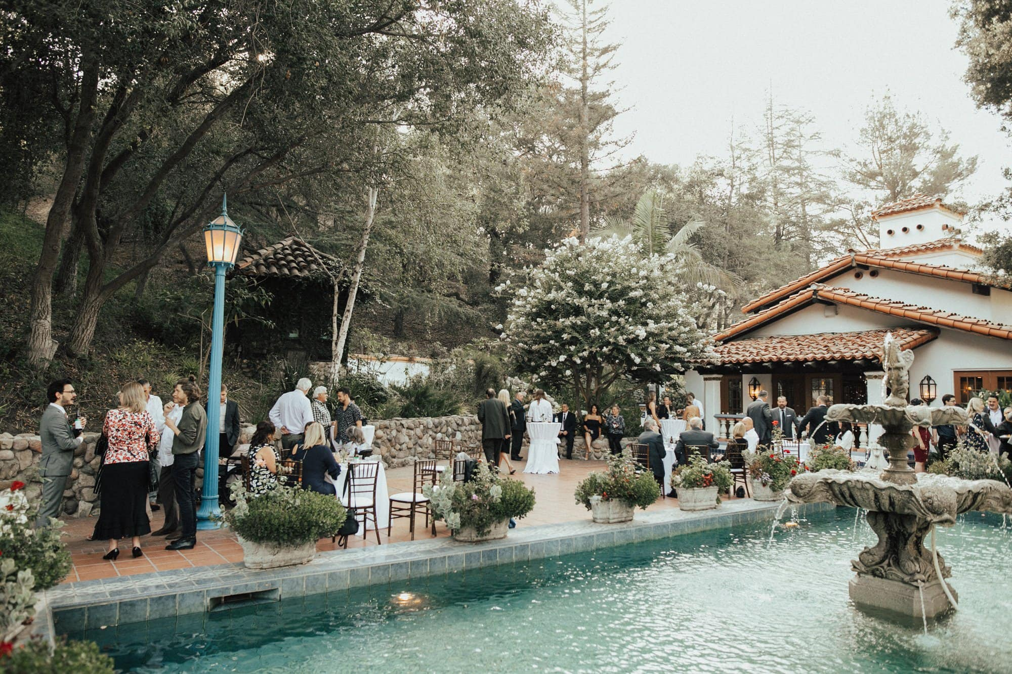 cocktail hour at rancho las lomas