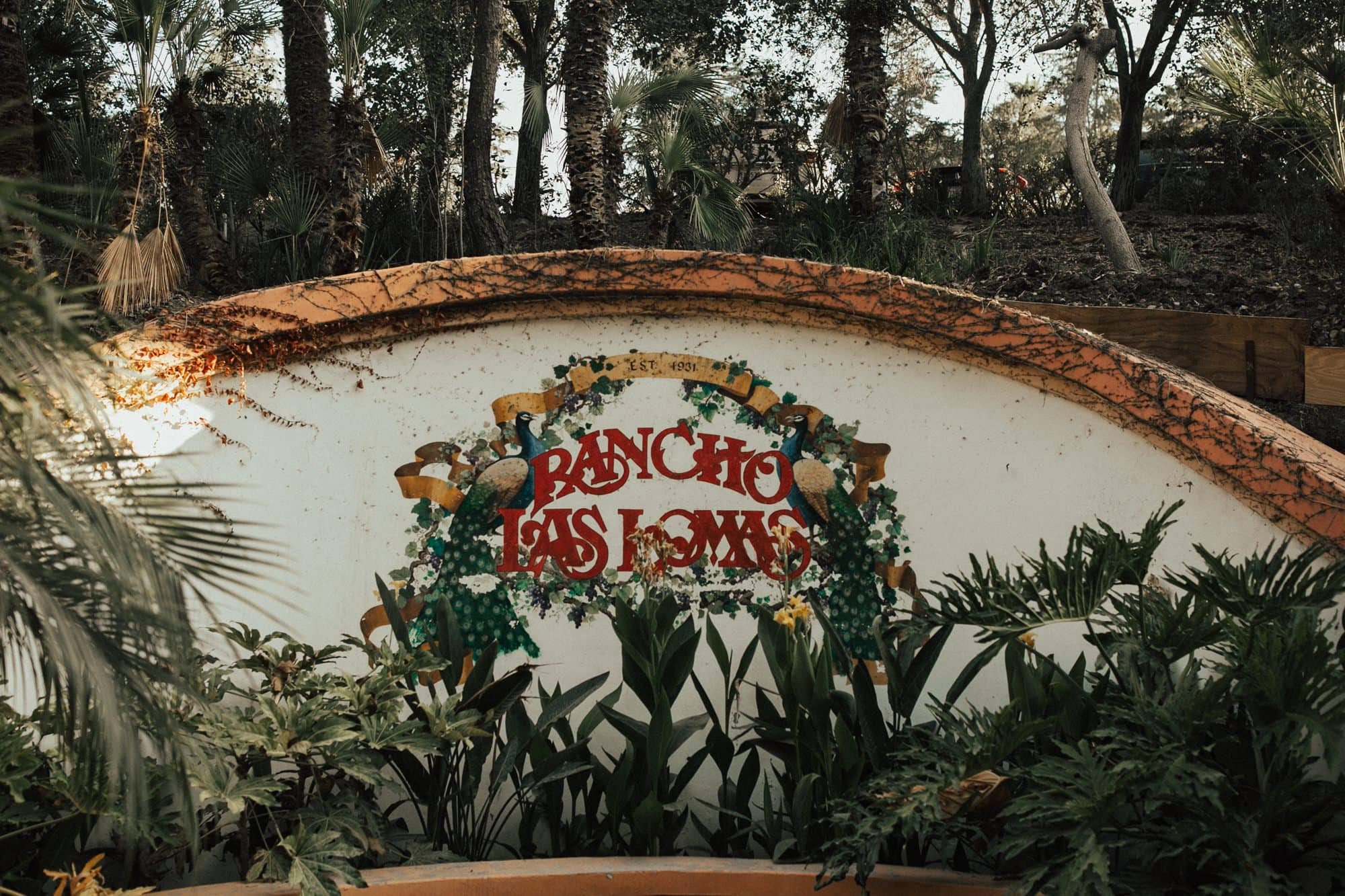 rancho las lomas entrance sign