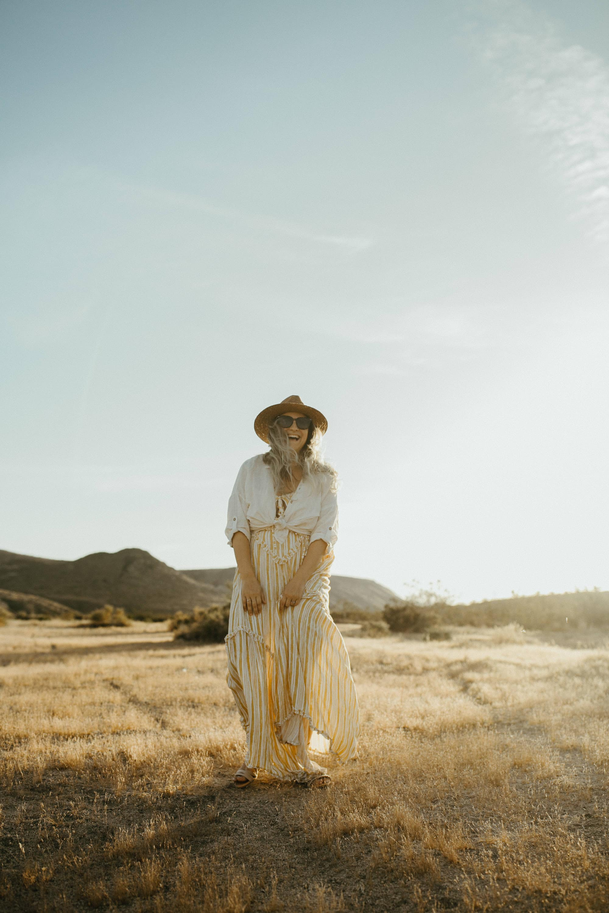 portrait of a girl in the desert