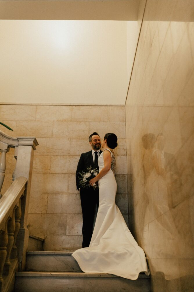 wedding portraits at the freehand los angeles hotel