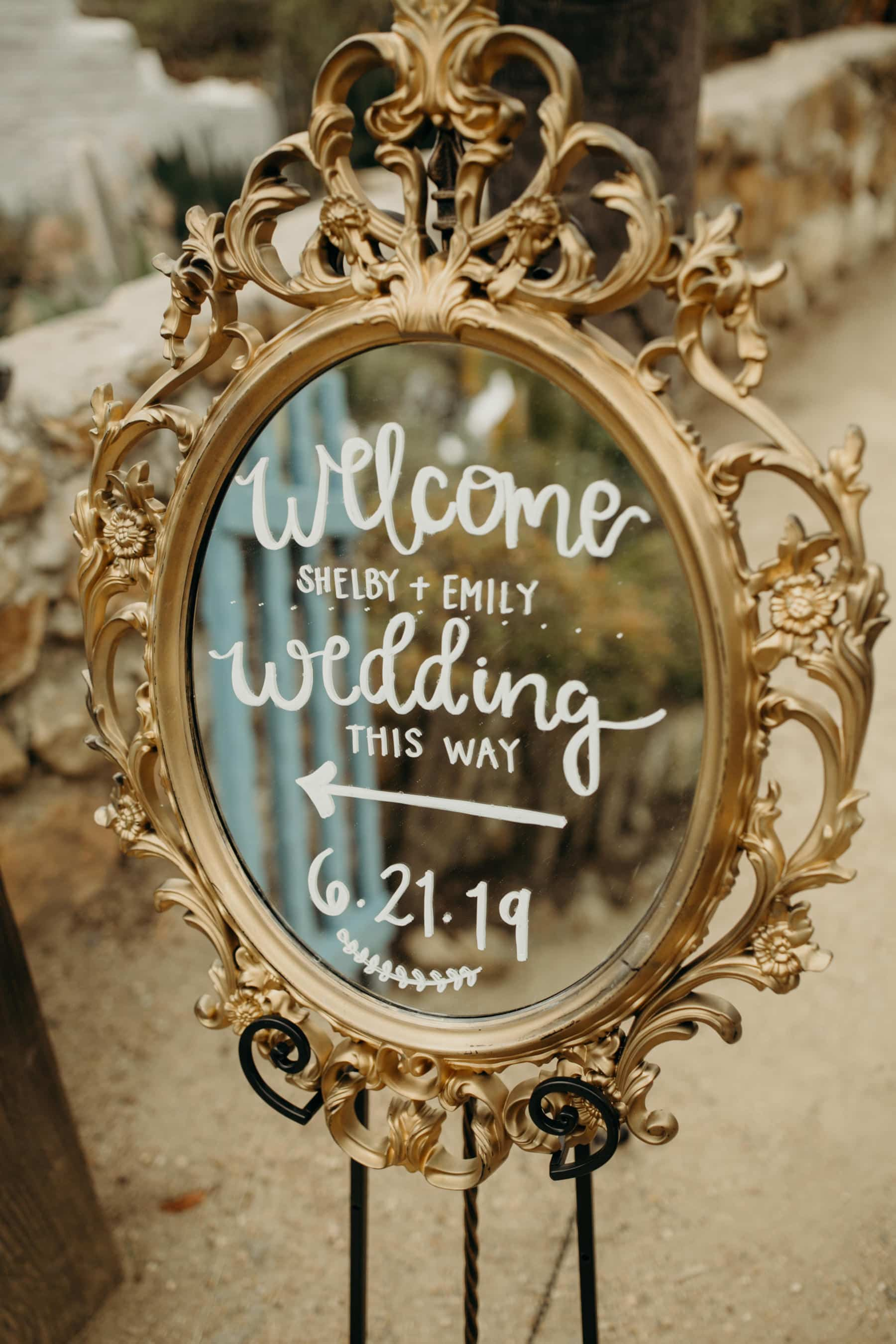 wedding sign detail