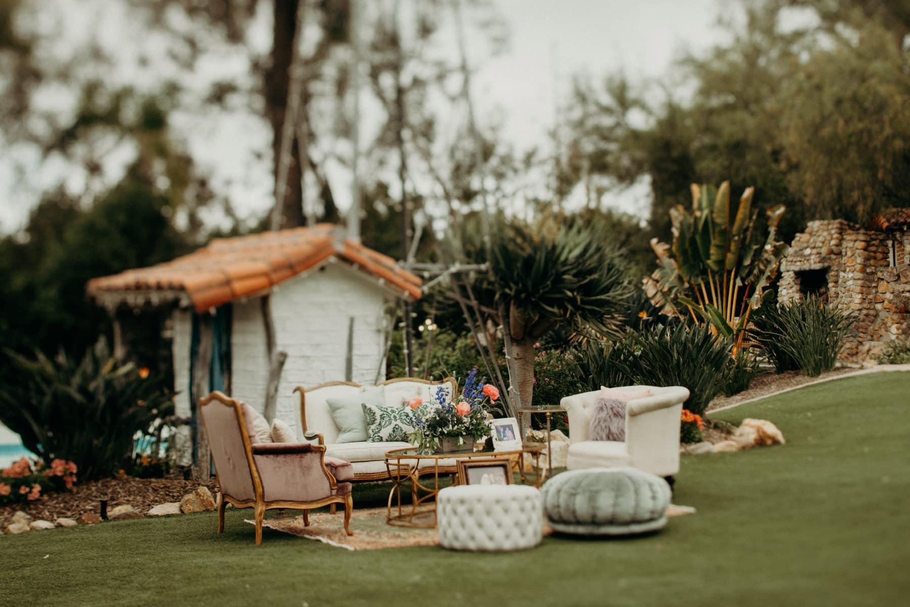 seating vintage rentals